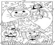 Print cat halloween s free118b coloring pages