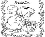 kids costume and candy halloween s freec53e coloring pages