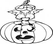 Print black cat halloween s printable kids849a coloring pages