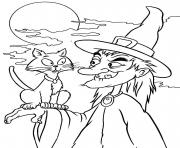 Print coloring pages print out witch halloween1ec6 coloring pages