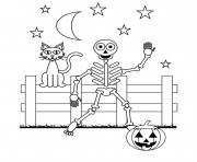 Print coloring pages for kids halloween skeleton4bb6 coloring pages