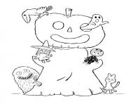 halloween  monsters92a5 coloring pages
