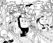 spencer and gordon halloween thomas the train s to printd359 coloring pages