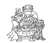 creepy halloween s monstersa169 coloring pages