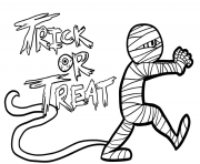 Print halloween s mummy33b7 coloring pages