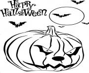 Print scary pumpkin free printable halloween scfd2 coloring pages