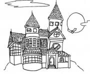 Print spooky house halloween s printable for preschoolersc54d coloring pages