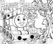 Print halloween full page thomas the train sac35 coloring pages