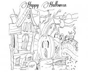 adult happy halloween s printablec606 coloring pages