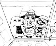 Print halloween  trick of treat5064 coloring pages