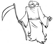 halloween grim reaper s free73fe coloring pages