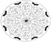 halloween mandala s9e99 coloring pages