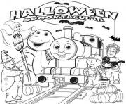 halloween thomas the train s to printacd7 coloring pages