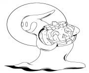 Print coloring pages with pumpkin and ghost for halloweenf539 coloring pages