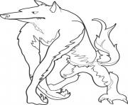 adult werewolf halloween s print free5f16 coloring pages