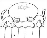 halloween s scary cats45aa coloring pages