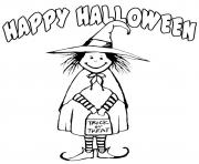 witch costume happy halloween s printable freeb305 coloring pages