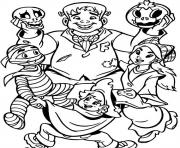 Print halloween s monsters costumesdcc8 coloring pages