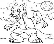 monster halloween wolf s printa10a coloring pages