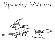 spooky witch halloween bddd coloring pages