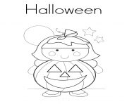 children girl halloween sde8f coloring pages
