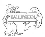 ghost and witch halloween s printable free7ad3 coloring pages