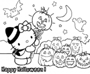 happy halloween  hello kittyb5a6 coloring pages
