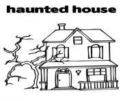 Print haunted house kids halloween s printable for preschoolerse866 coloring pages
