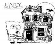sponge bob halloween s for kidsf89a coloring pages