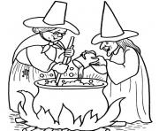 Print witch halloween s printable402f coloring pages