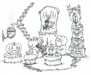 skeleton halloween s printable for preschoolers70b5 coloring pages