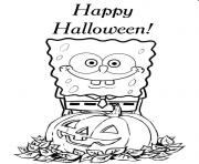 spongebob printable halloween sbdaa coloring pages