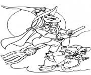 flying witches halloween s printable freeaccb coloring pages