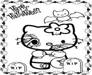 Print scary halloween hello kitty s5771 coloring pages