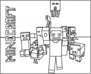 Printable minecraft world team coloring pages