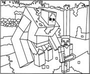 Printable minecraft coloring big guy coloring pages