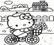 hello kitty enjoying free time 13d2 coloring pages