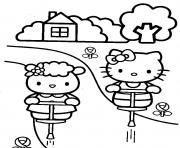 Print fifi and hello kitty s you can printe0fa coloring pages