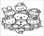 Print hello kitty with friends 462d coloring pages