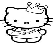 Printable hello kitty s cute princess512e coloring pages