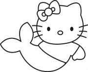 Print simple hello kitty s as a mermaid2e30 coloring pages