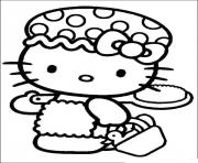 Printable hello kitty about to take shower 33b7 coloring pages