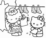 Printable hello kitty doing laundry4901 coloring pages
