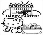 Printable hello kitty s easter1e28 coloring pages