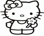 Printable girly hello kitty e981 coloring pages