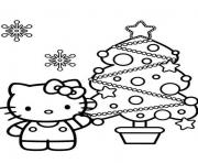hello kitty s christmas tree30e5 coloring pages