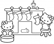 Printable christmas s for kids hello kitty christmas stockings698c coloring pages