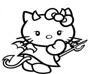 Print hello kitty devil s99f6 coloring pages