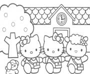 Printable hello kitty s with friends1054 coloring pages