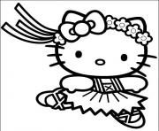 pretty hello kitty s ballerina0d4c coloring pages
